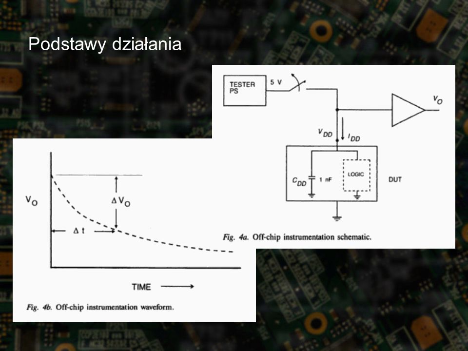 Modele uszkodzeń Stuck-at fault Model –na linii panuje nieprzerwanie poziom niski lub wysoki –zwarcia do masy, zwarcia do zasilania, rozwarcia na wejściu –wykrycie nastąpi przy próbie ustawienia stanu przecinego Transistor Short Model –specyficzne wektory testowe mogą wykryć zwarcie dowolnych dwóch końcówek tranzystora Bridging Model –zwarcia między ścieżkami na warstwach metalu –wystarczy badać tylko ścieżki sąsiadujące ze sobą –wykrycie nastąpi przy próbie ustawienia stanów przeciwnych