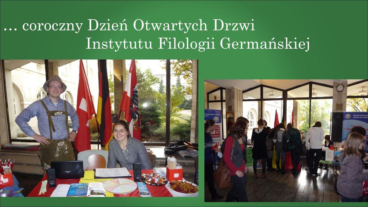 … coroczny Dzień Otwartych Drzwi Instytutu Filologii Germańskiej