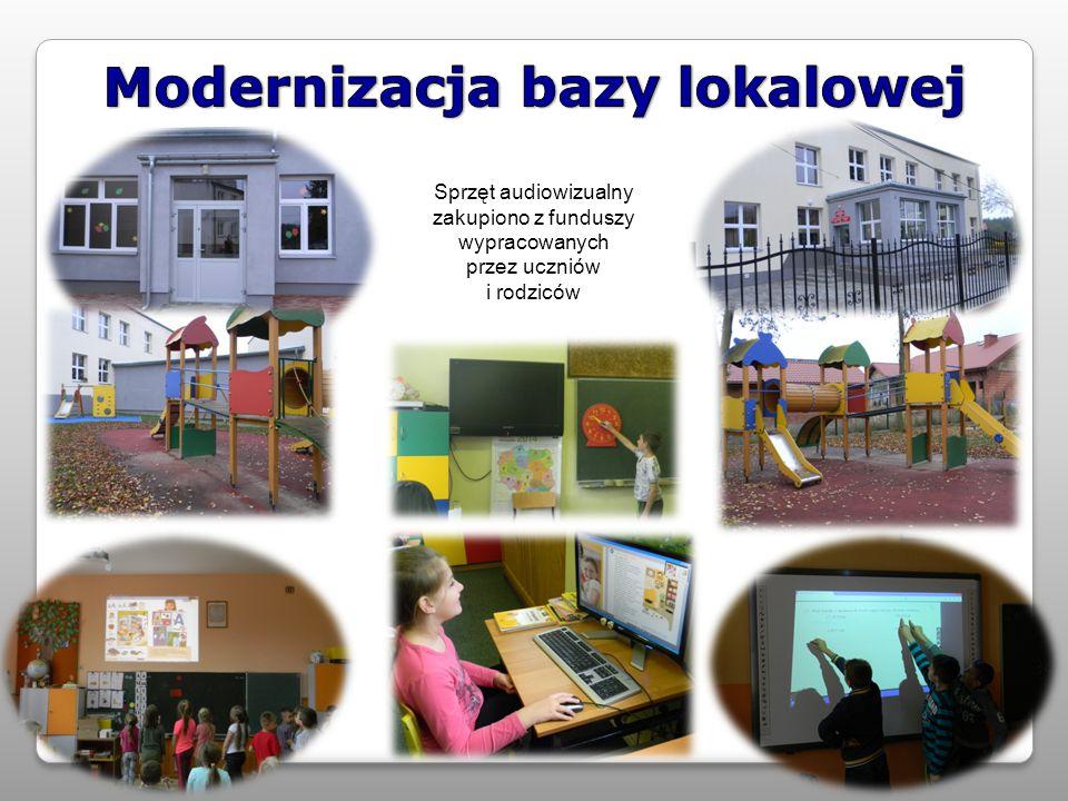 Sprzęt audiowizualny zakupiono z funduszy wypracowanych przez uczniów i rodziców