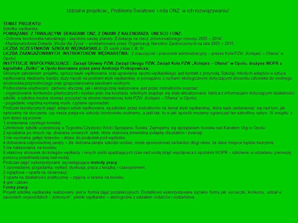 Tablice informacyjne Więcej informacji na stronie internetowej koła.