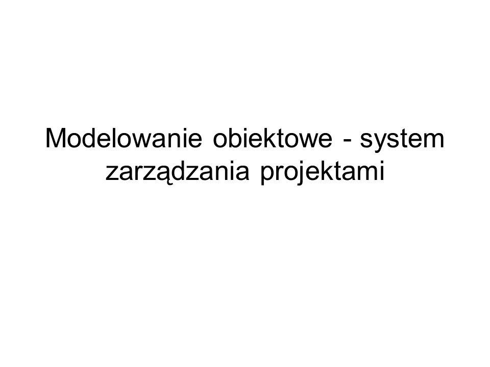 Modelowanie obiektowe - system zarządzania projektami
