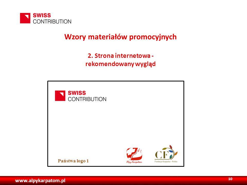 www.alpykarpatom.pl Wzory materiałów promocyjnych 2.