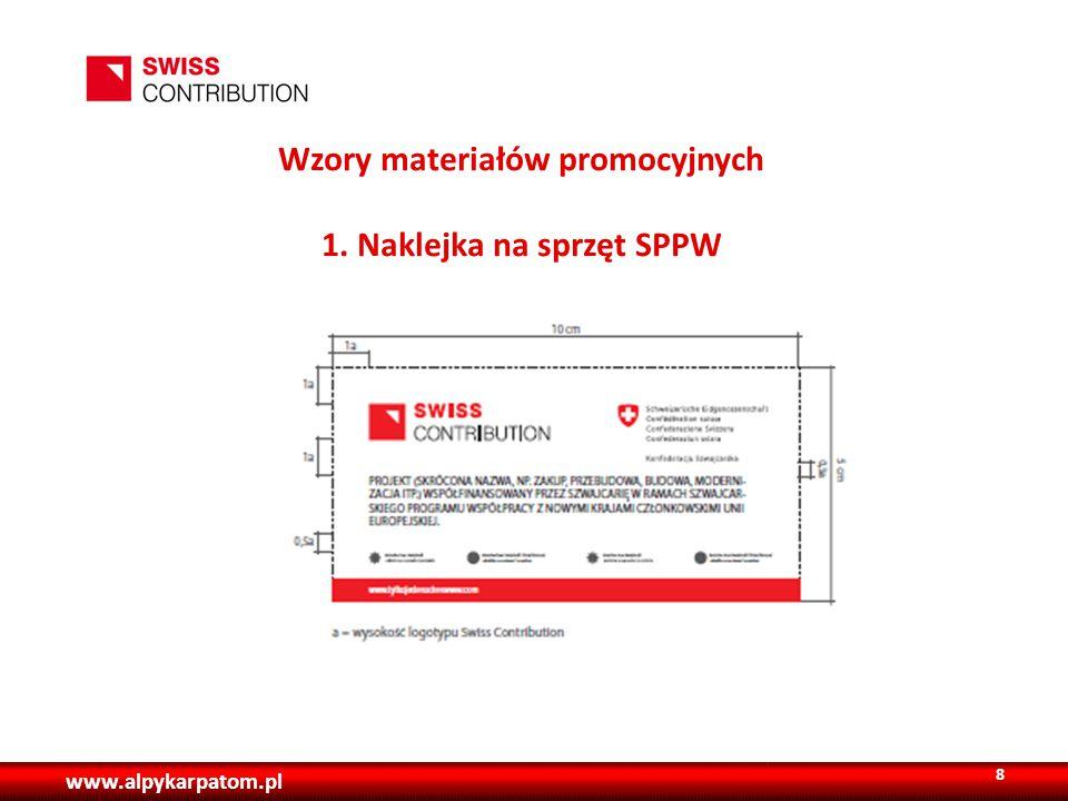 www.alpykarpatom.pl Wzory materiałów promocyjnych 1. Naklejka na sprzęt SPPW 8