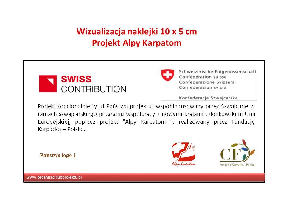 Projekt (opcjonalnie tytuł Państwa projektu) współfinansowany przez Szwajcarię w ramach szwajcarskiego programu współpracy z nowymi krajami członkowskimi Unii Europejskiej, poprzez projekt Alpy Karpatom , realizowany przez Fundację Karpacką – Polska.