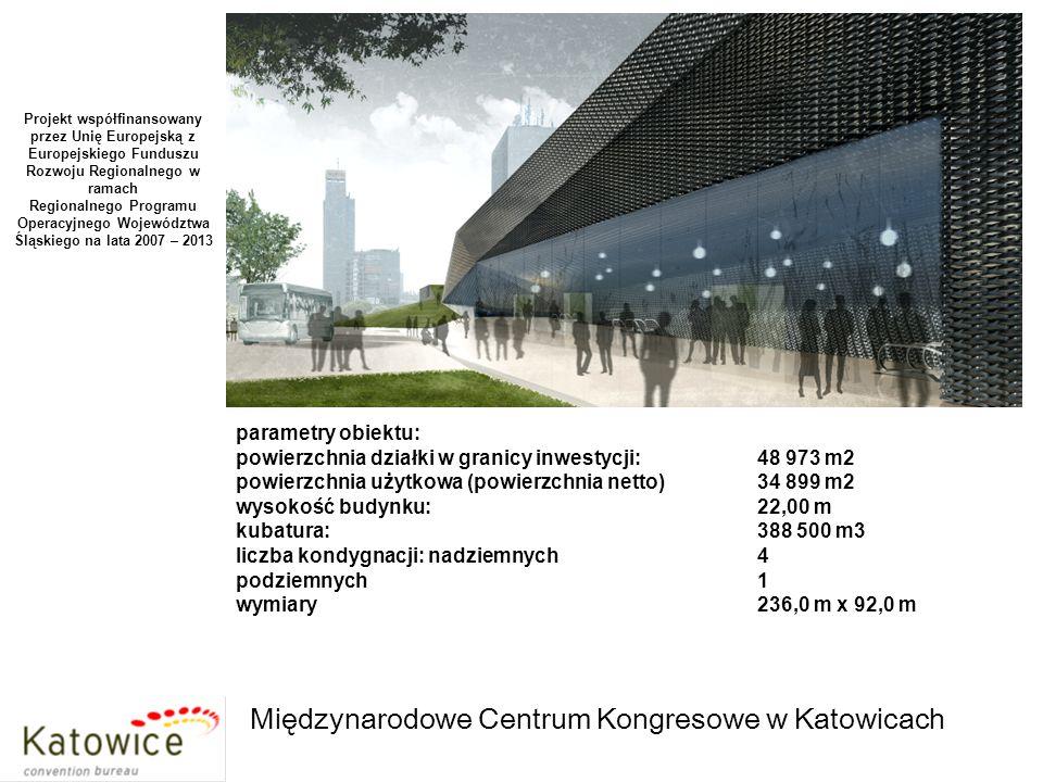 MCK: sala bankietowa – 1 000 osób; 1 200 m2 Projekt współfinansowany przez Unię Europejską z Europejskiego Funduszu Rozwoju Regionalnego w ramach Regionalnego Programu Operacyjnego Województwa Śląskiego na lata 2007 – 2013