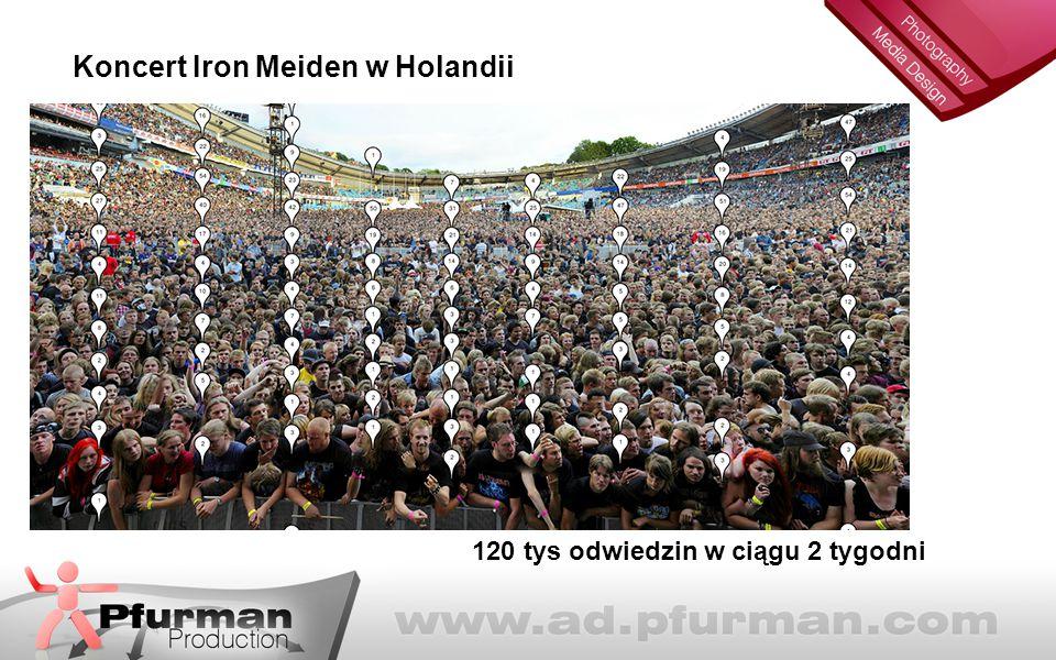 120 tys odwiedzin w ciągu 2 tygodni Koncert Iron Meiden w Holandii
