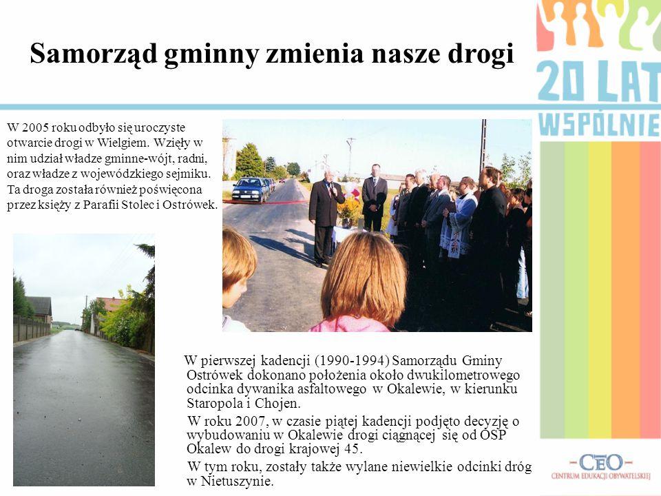 W 2005 roku odbyło się uroczyste otwarcie drogi w Wielgiem. Wzięły w nim udział władze gminne-wójt, radni, oraz władze z wojewódzkiego sejmiku. Ta dro