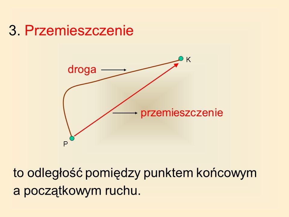 2. Droga to długość odcinka toru. Drogę oznacza się literą s. Drogę w układzie jednostek SI mierzy się w metrach.