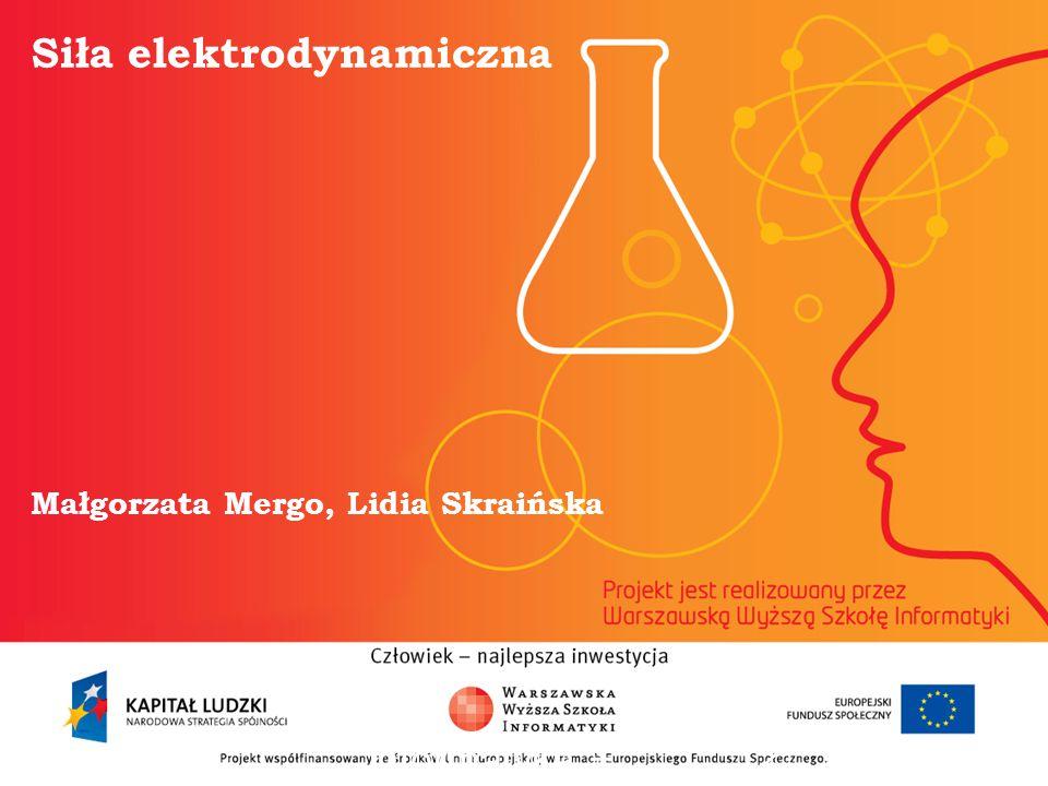Siła elektrodynamiczna Małgorzata Mergo, Lidia Skraińska informatyka + 2