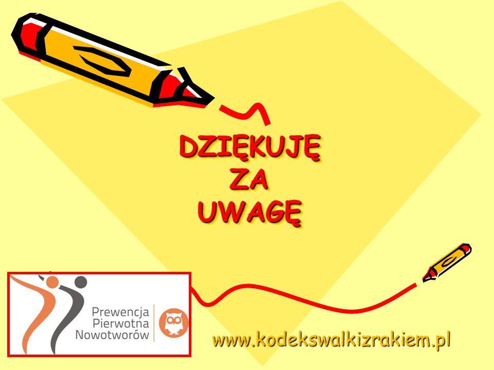 DZIĘKUJĘ ZA UWAGĘ www.kodekswalkizrakiem.pl