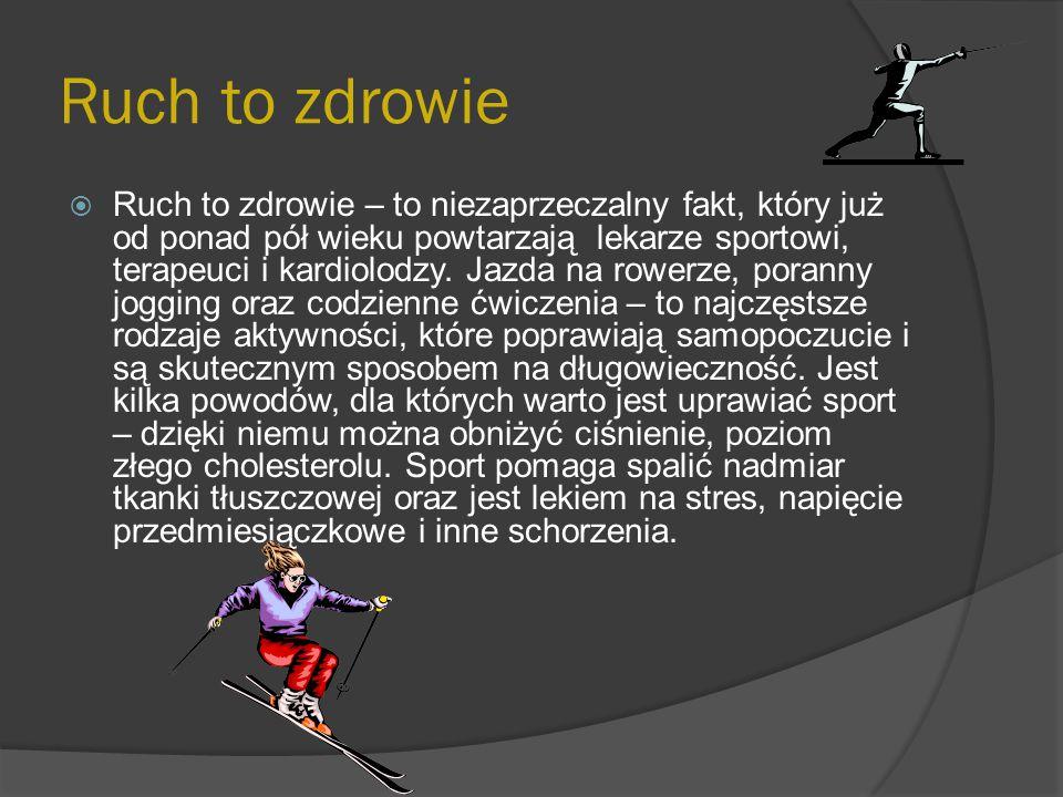 Wpływ ruchu na kręgosłup  Ruch jest naturalną czynnością niezbędną do prawidłowego funkcjonowania całego organizmu.