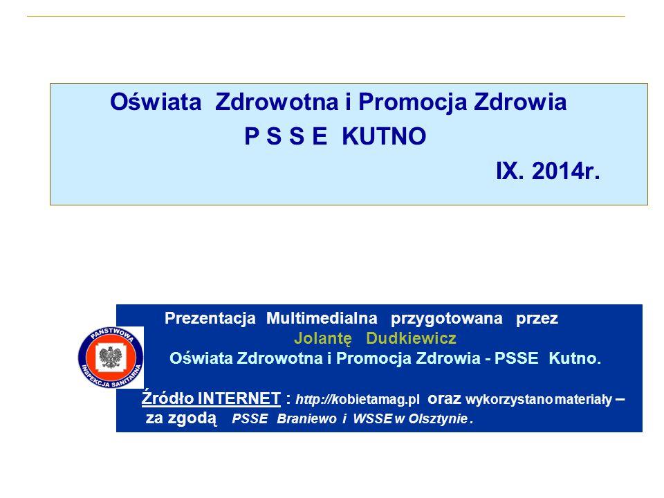 Oświata Zdrowotna i Promocja Zdrowia P S S E KUTNO IX.