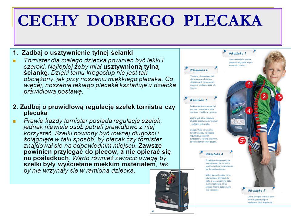 CECHY DOBREGO PLECAKA 1.