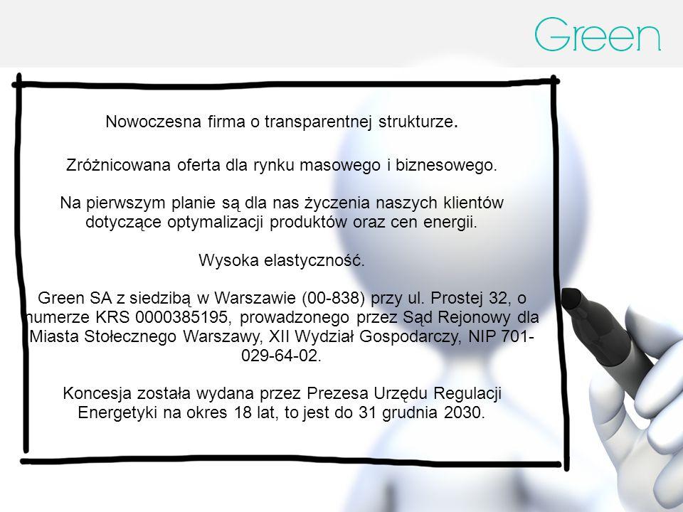 Nowoczesna firma o transparentnej strukturze.Zróżnicowana oferta dla rynku masowego i biznesowego.