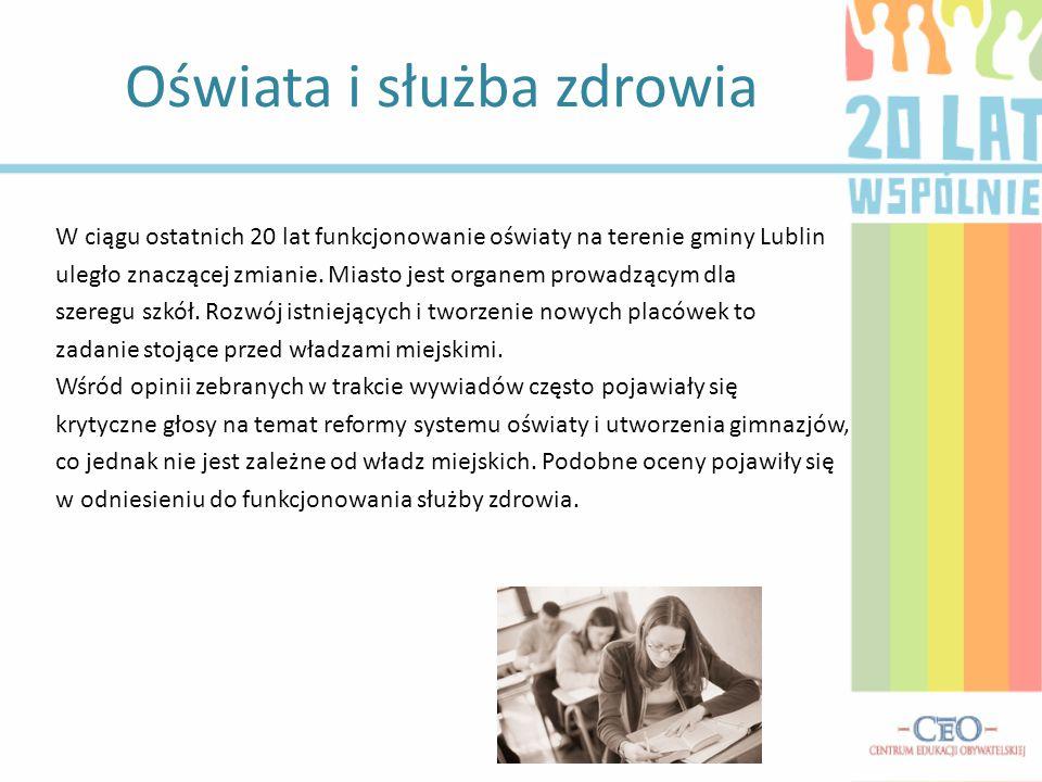 W ciągu ostatnich 20 lat funkcjonowanie oświaty na terenie gminy Lublin uległo znaczącej zmianie. Miasto jest organem prowadzącym dla szeregu szkół. R