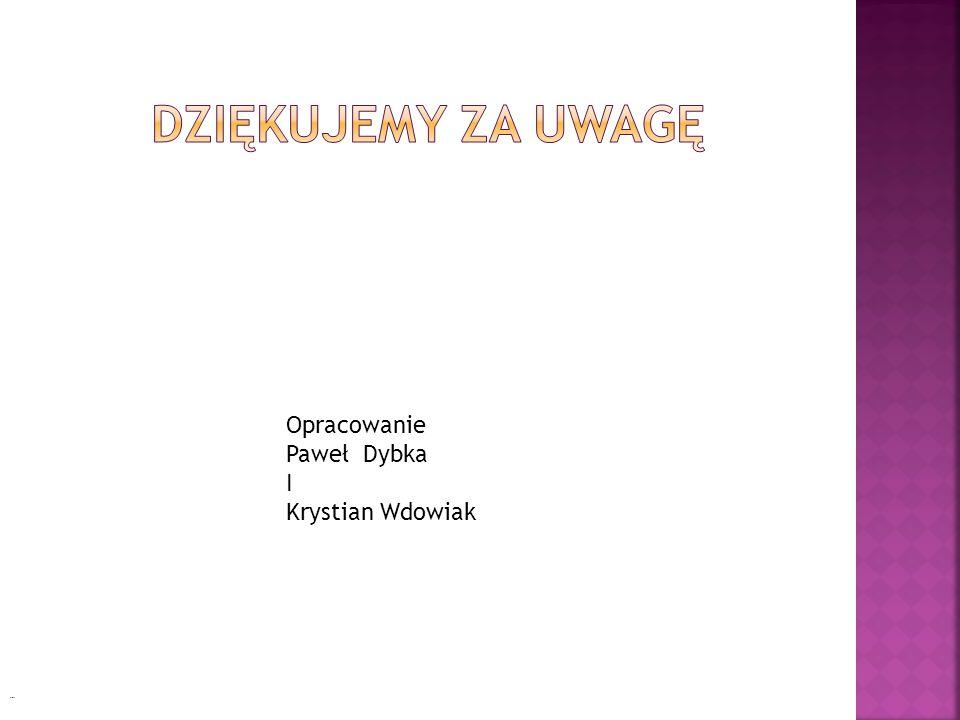 Opracowanie Paweł Dybka I Krystian Wdowiak Cioty