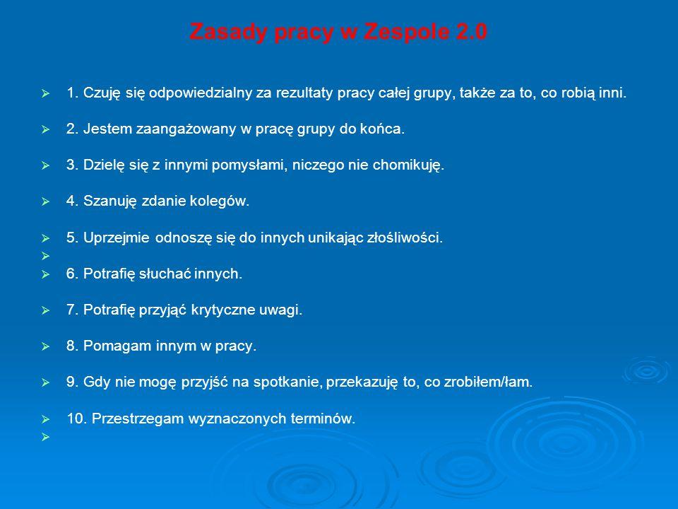 Zasady pracy w Zespole 2.0   1.