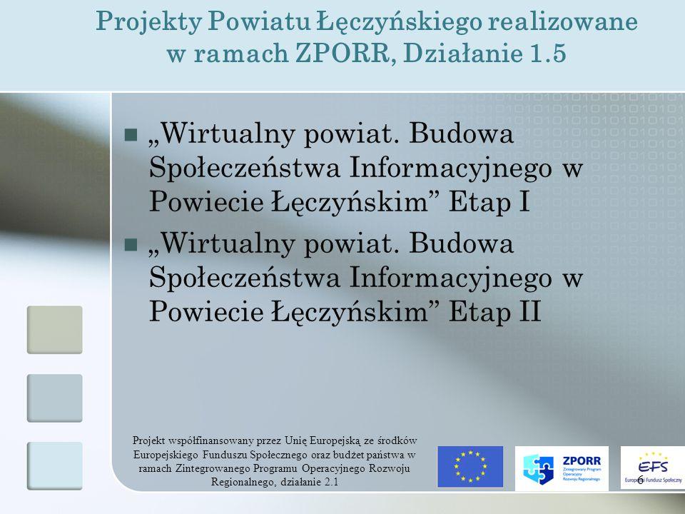 Projekt współfinansowany przez Unię Europejską ze środków Europejskiego Funduszu Społecznego oraz budżet państwa w ramach Zintegrowanego Programu Operacyjnego Rozwoju Regionalnego, działanie 2.1 27 Przeszkolenie 70 pracujących osób dorosłych z zakresu obsługi najpopularniejszych programów biurowych i graficznych Przeszkolenie 10 pracujących osób dorosłych z zakresu zarządzania sieciami (Windows XP, Linux) 776 godzin szkoleniowych Rezultaty twarde