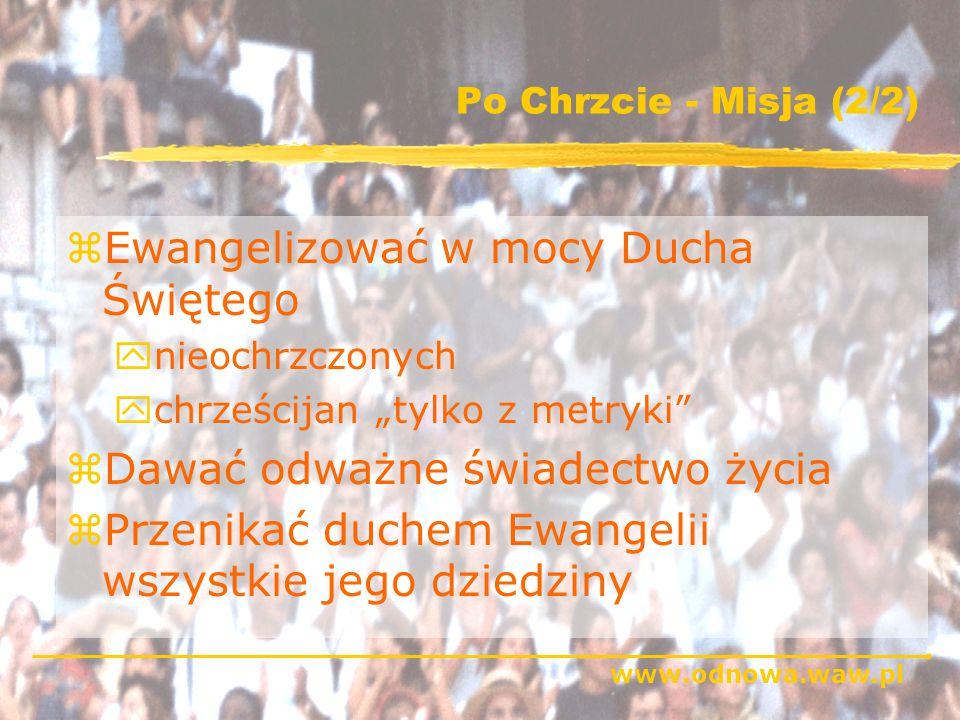 www.odnowa.waw.pl Chrzest w Duchu Świętym - schemat