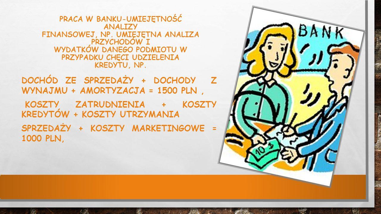 PRACA W BANKU-UMIEJĘTNOŚĆ ANALIZY FINANSOWEJ, NP.
