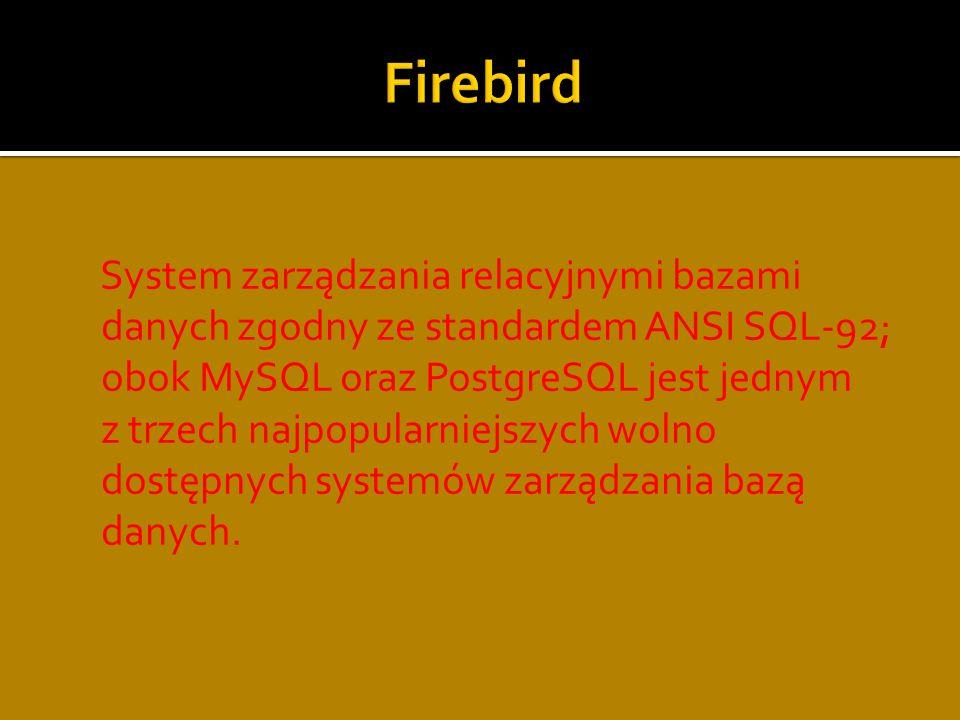 Standardowy język zapytań do obsługi relacyjnej bazy danych oraz relacyjno- obiektowej bazy danych.