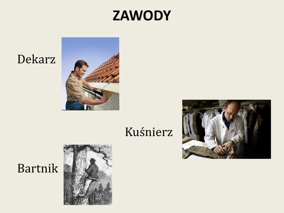 ZAWODY Dekarz Kuśnierz Bartnik