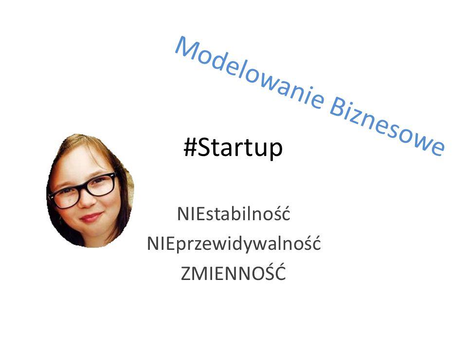 #Startup NIEstabilność NIEprzewidywalność ZMIENNOŚĆ Modelowanie Biznesowe