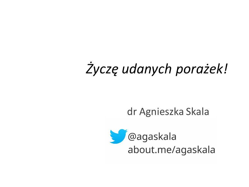 dr Agnieszka Skala Życzę udanych porażek!