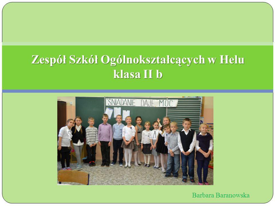 Zespół Szkół Ogólnokształcących w Helu klasa II b Barbara Baranowska