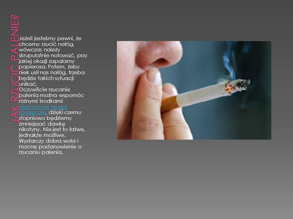 Jeżeli jesteśmy pewni, że chcemy rzucić nałóg, wówczas należy skrupulatnie notować, przy jakiej okazji zapalamy papierosa. Potem, żeby niek usił nas n