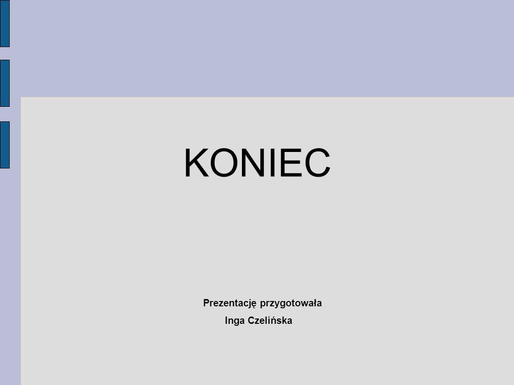 KONIEC Prezentację przygotowała Inga Czelińska