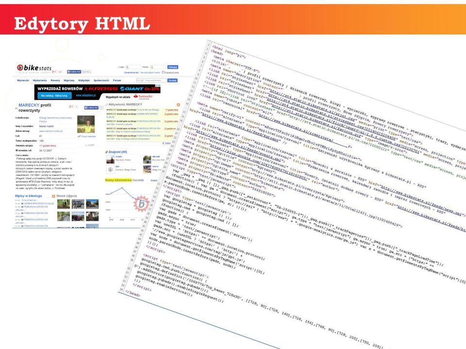 informatyka + Edytory HTML