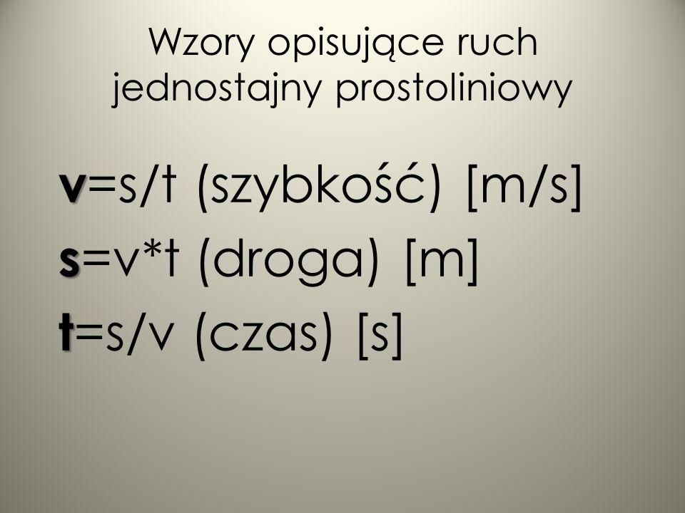 Dodatkowo ruch jednostajny prostoliniowy odbywa się także stale w jedną stronę.