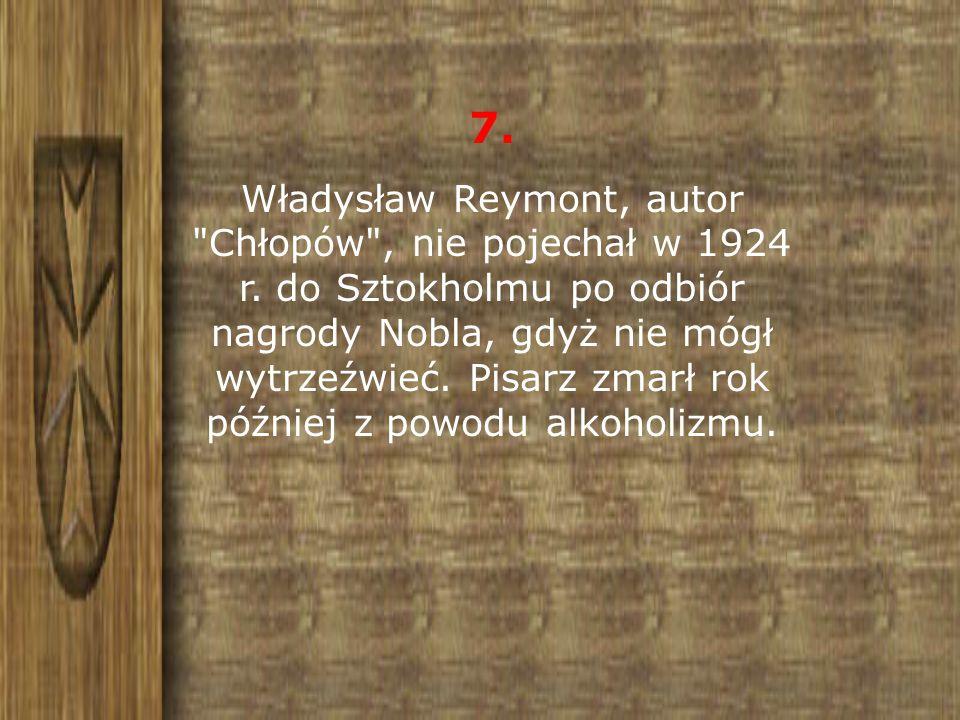 7. Władysław Reymont, autor