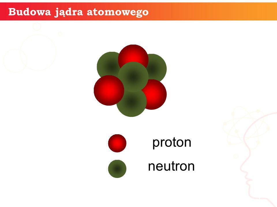 informatyka + 5 Budowa jądra atomowego proton neutron