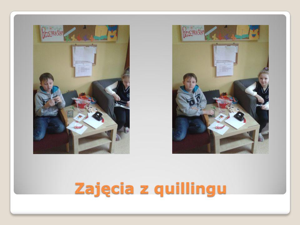 Zajęcia z quillingu