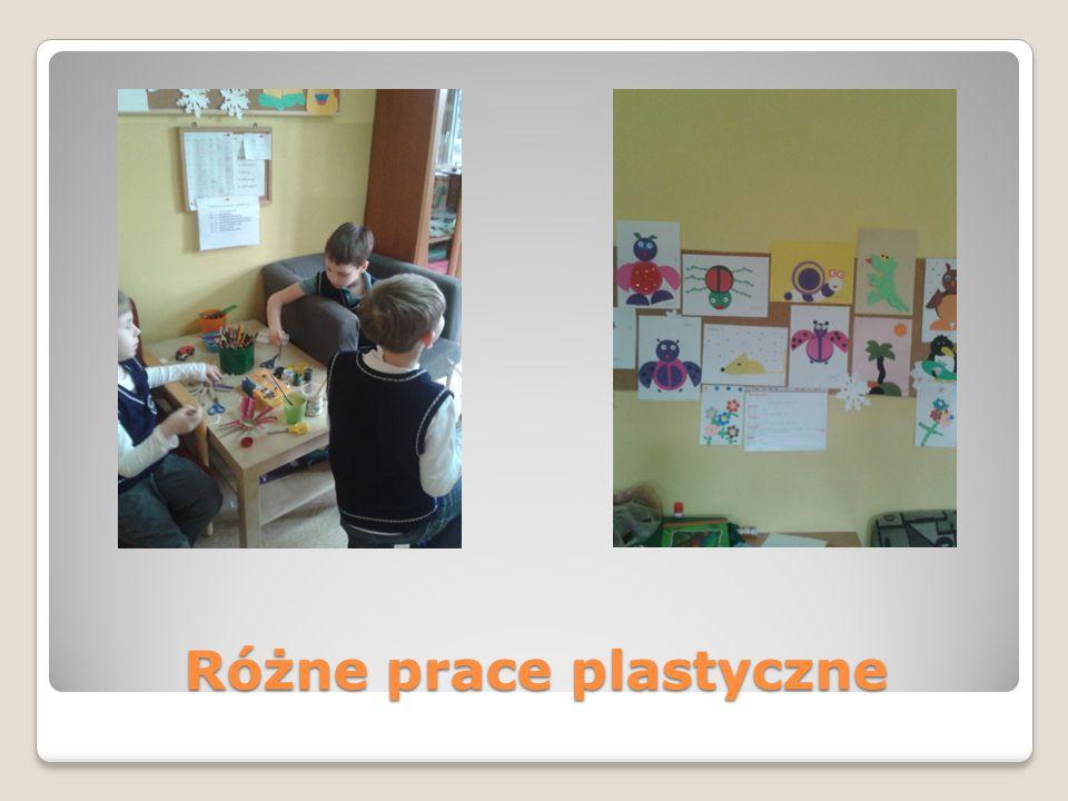 Różne prace plastyczne