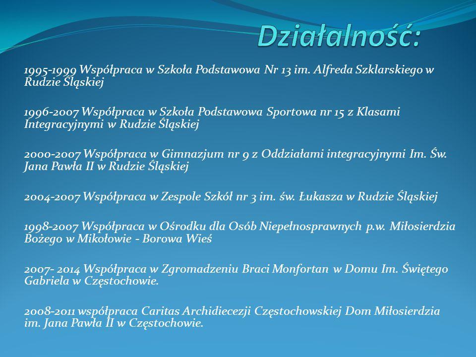 1995-1999 Współpraca w Szkoła Podstawowa Nr 13 im.