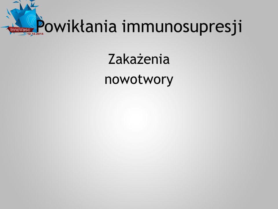 Powikłania immunosupresji Zakażenia nowotwory