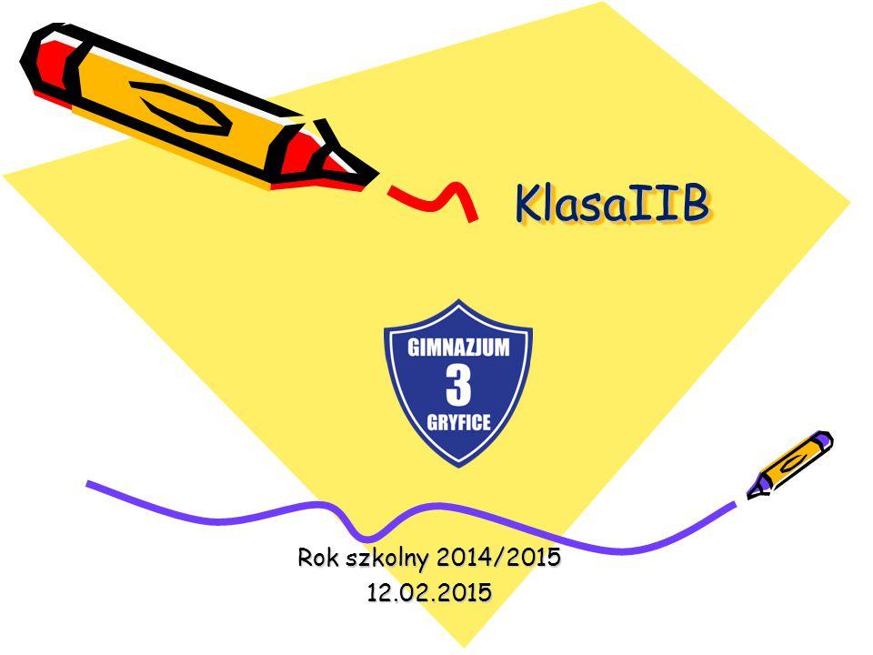 KlasaIIB KlasaIIB Rok szkolny 2014/2015 12.02.2015
