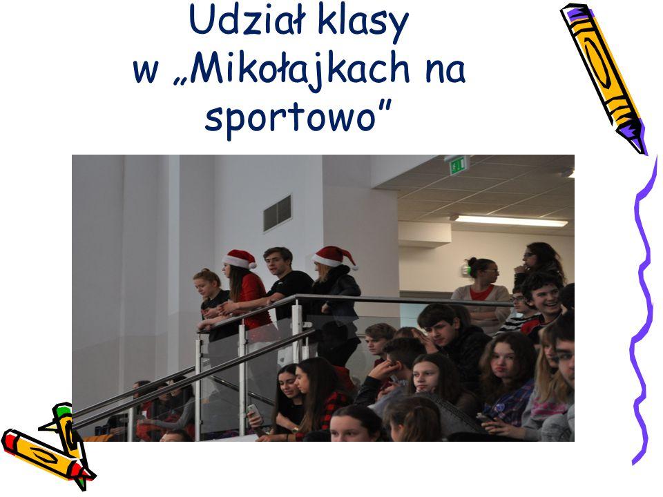 """Udział klasy w """"Mikołajkach na sportowo"""""""