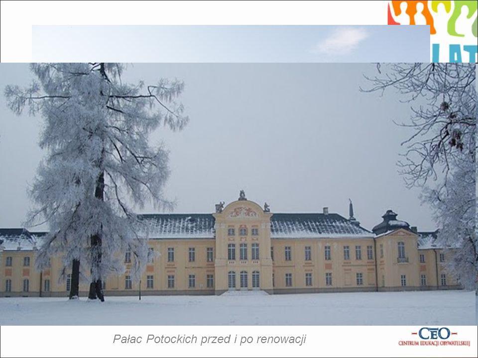 Pałac Potockich przed i po renowacji
