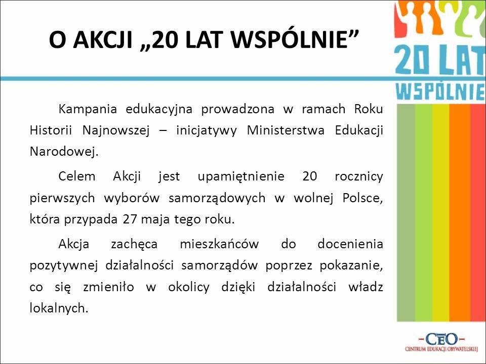 Kampania edukacyjna prowadzona w ramach Roku Historii Najnowszej – inicjatywy Ministerstwa Edukacji Narodowej. Celem Akcji jest upamiętnienie 20 roczn