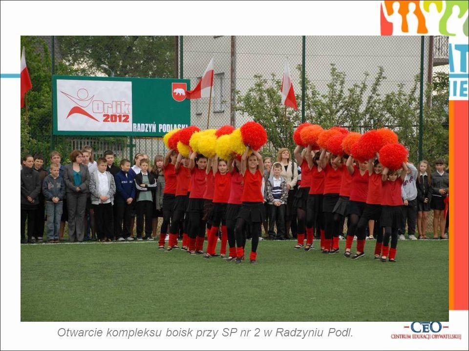 Otwarcie kompleksu boisk przy SP nr 2 w Radzyniu Podl.
