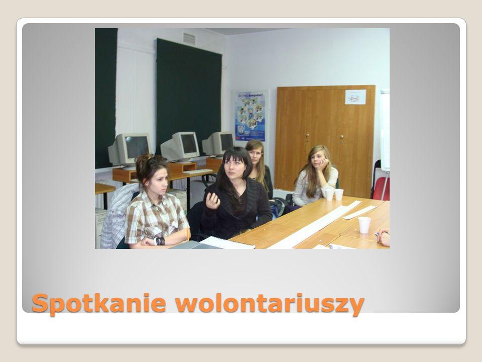 Spotkanie wolontariuszy i opiekunów