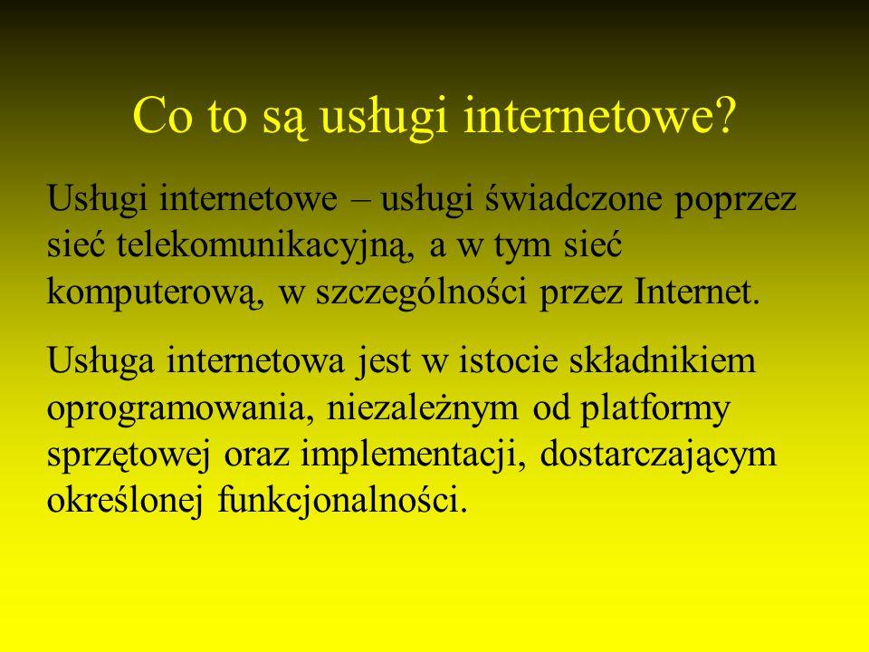 Co to są usługi internetowe.