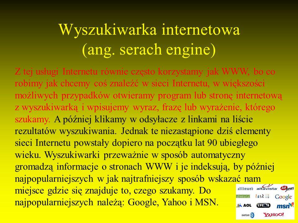 Wyszukiwarka internetowa (ang.