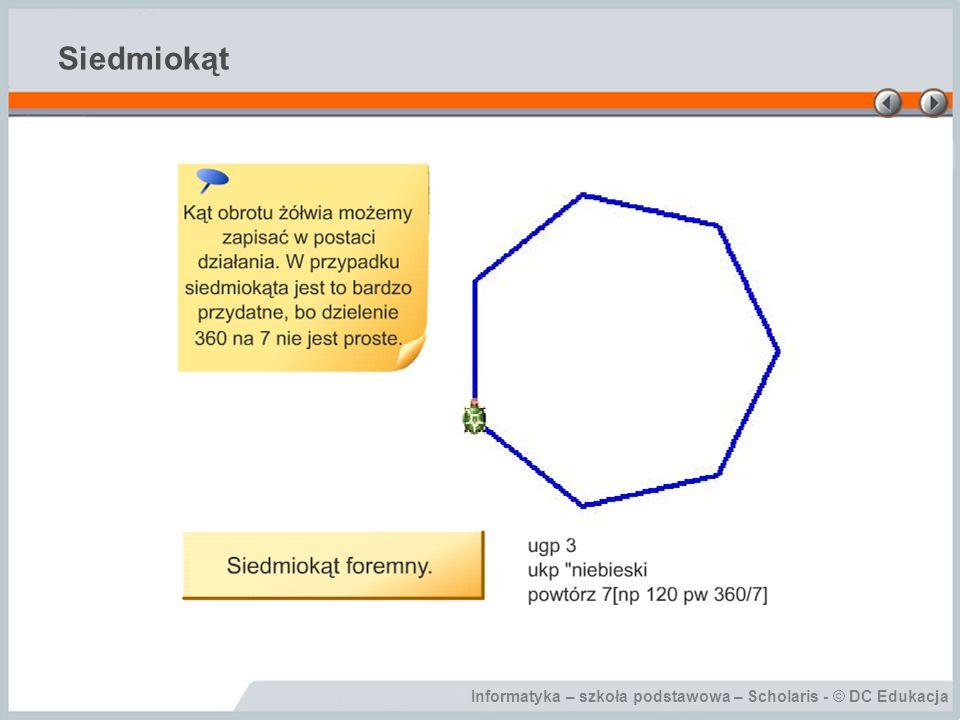 Informatyka – szkoła podstawowa – Scholaris - © DC Edukacja Siedmiokąt