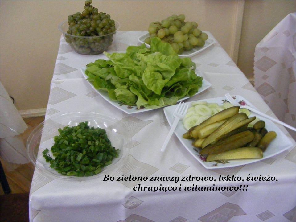 Bo zielono znaczy zdrowo, lekko, świeżo, chrupiąco i witaminowo!!!