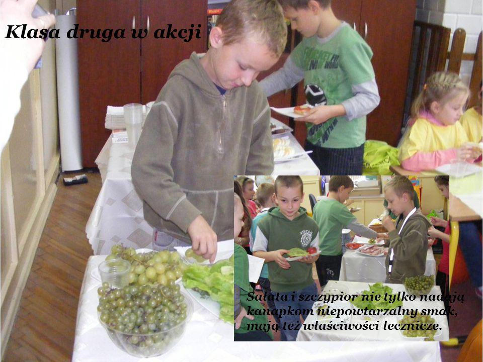 Klasa druga w akcji Sałata i szczypior nie tylko nadają kanapkom niepowtarzalny smak, mają też właściwości lecznicze.